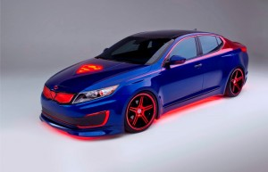 Kia Optima Hybride version Superman