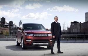 Range Rover Sport livré par James Bond (Daniel Craig)