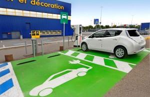 Nissan Leaf - Bornes de recharge rapide à Ikea