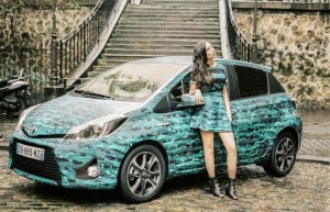 Nouvelle Toyota Yaris Hybride Graphic 2014