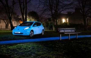 Nissan invente la Leaf qui brille dans la nuit