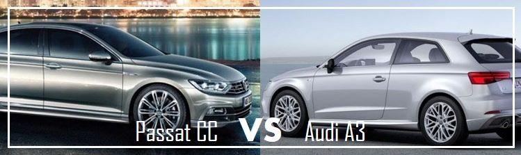 Essai comparatif des berlines Volkswagen Passat CC VS Audi A3
