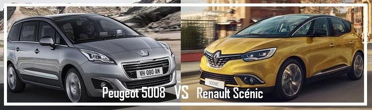 Essai comparatif Peugeot 5008 VS Renault Grand Scénic IV