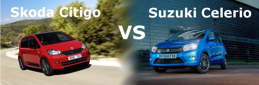 Essai comparatif des voitures citadines Skoda Citigo et Suzuki Celerio