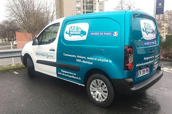 Des véhicules utilitaires électriques en autopartage pour les pros