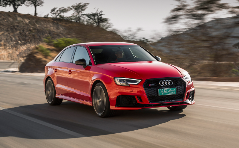 Découvrez notre essai de l'Audi RS3 Sedan (Berline) TFSI 2.5 400 ch