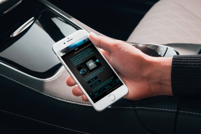 Mercedes application alerte collision