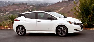Nissan Leaf 2018 blanche