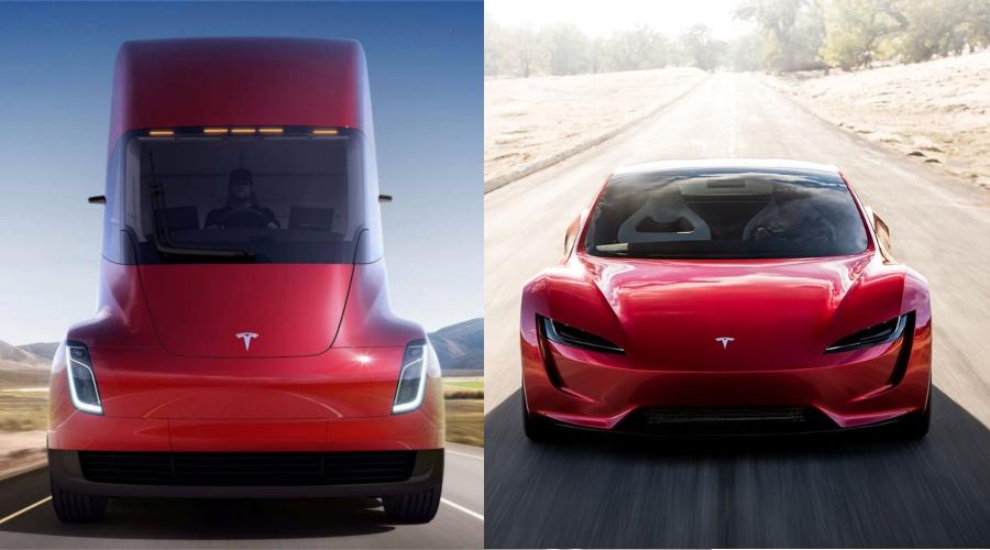 Tesla dévoile son premier camion électrique et un deuxième Roadster