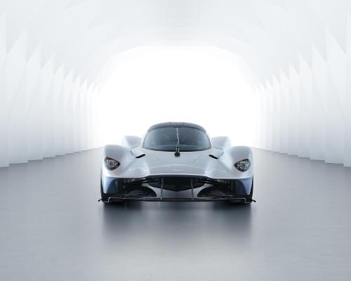 Aston Martin Valkyrie vue de face