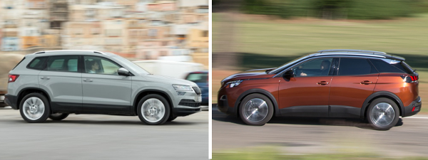 Essai comparatif Skoda Karoq VS Peugeot 3008 : conduite