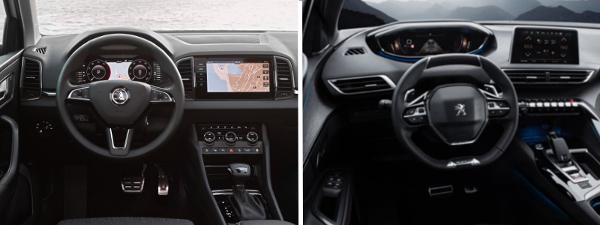 Essai comparatif Skoda Karoq VS Peugeot 3008 : intérieur
