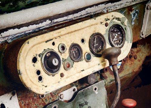 Land Rover tableau de bord ancien