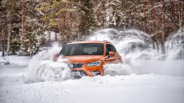 SEAT SUV dans la neige