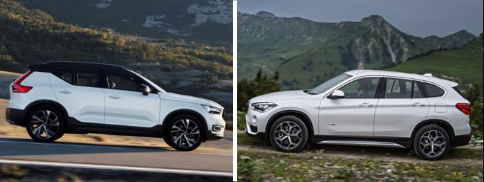 Essai comparatif Volvo XC40 VS BMW X1 : design