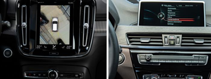 Essai comparatif Volvo XC40 VS BMW X1 : équipement