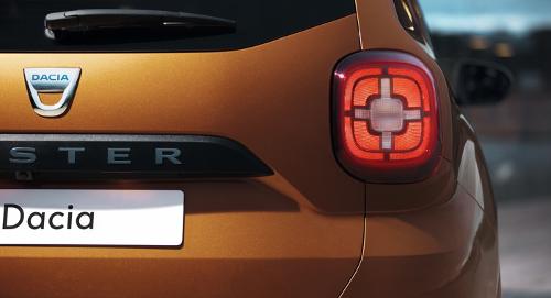 Essai nouveau Dacia Duster : détail optique arrière