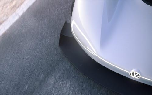 Phares avant de la voiture de course électrique I.D. R Pikes Peak de Volkswagen