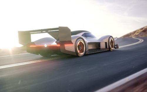 La voiture de course électrique I.D. R Pikes Peak de Volkswagen