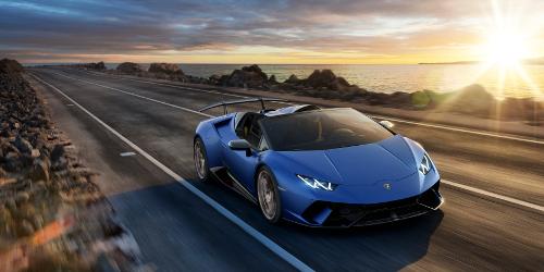 Lamborghini Huracan Performante Spyder 2018 sur route