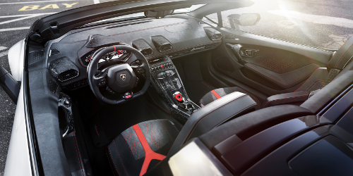 Alcantara dans la Lamborghini Huracan Performante Spyder