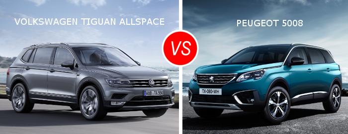 Essai comparatif : Volkswagen Tiguan Allspace vs Peugeot 5008