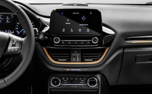 Chapitre équipements de l'essai de la Ford Fiesta Active