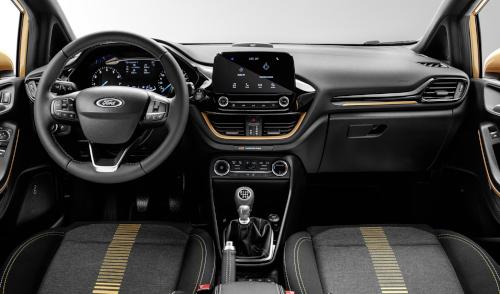 Design de l'intérieur de la Ford Fiesta Active