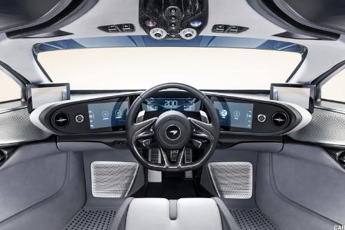 L'intérieur de la McLaren Speedtail